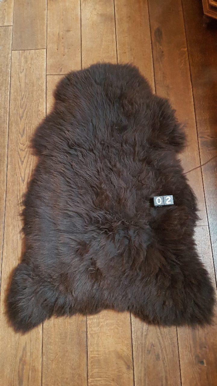 Schafsfelle Braun +/- 120 x 75 cm