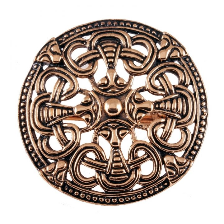 Viking Schijf Fibula Brons