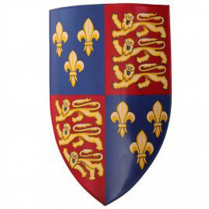 Eisen-Schild Edward mit Fleur de Lis 1406 - 1485