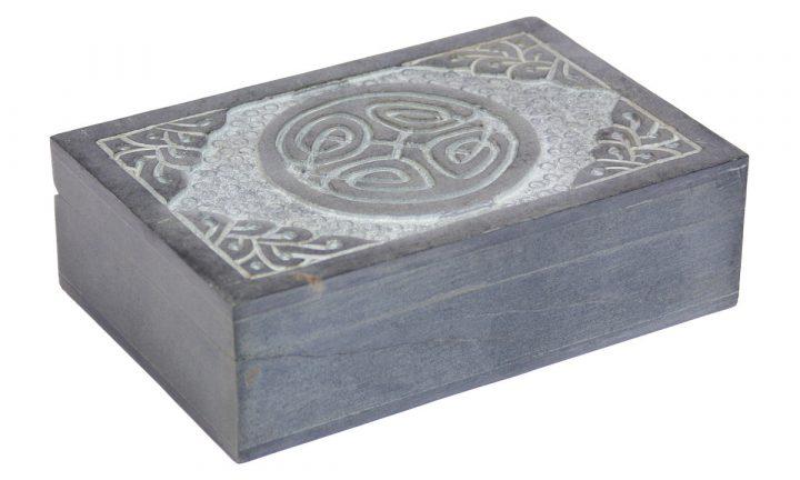 Sieraden Kistje Speksteen met Keltische Zegel