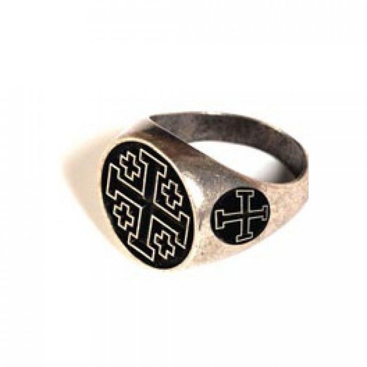Tempeliers Ring met zwart in maat 19