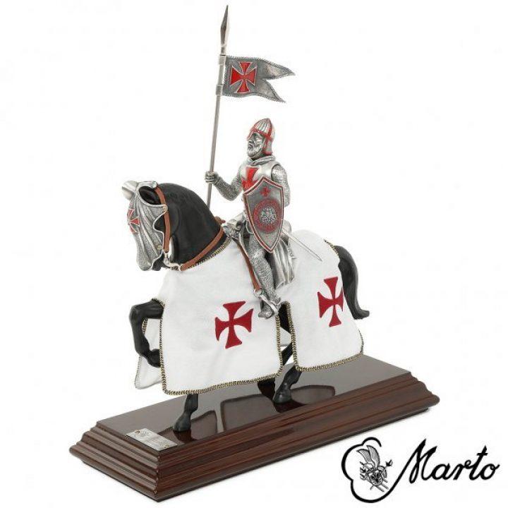 Templer Ritter auf Pferd