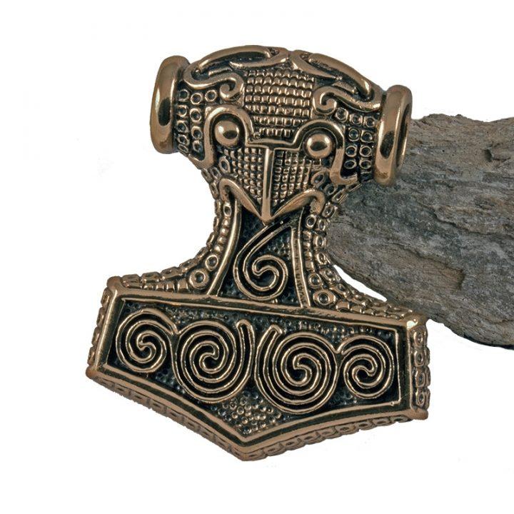 Wikinger Schonenhammer / Thorshammer Anhanger Bronze