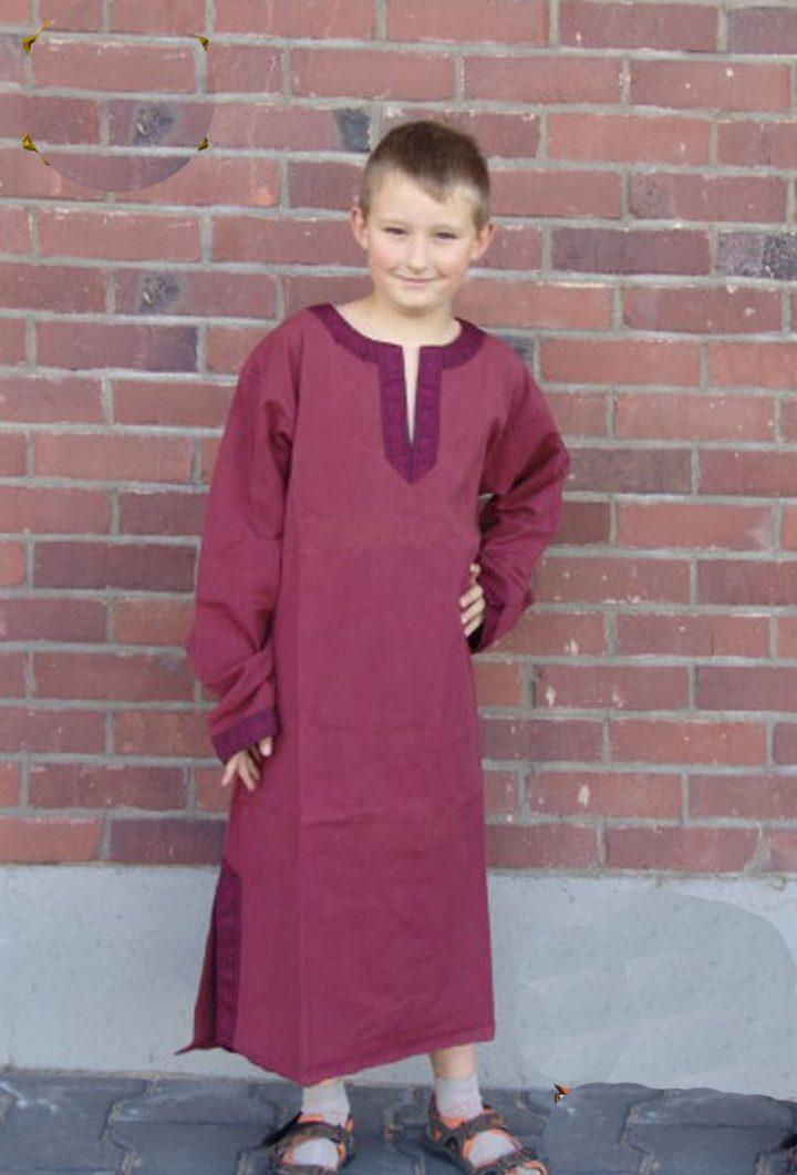 Viking- Middeleeuws Kinder Tuniek Rood