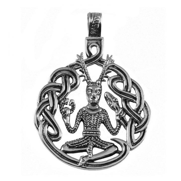 Keltische God van de Dieren Hanger Zilver