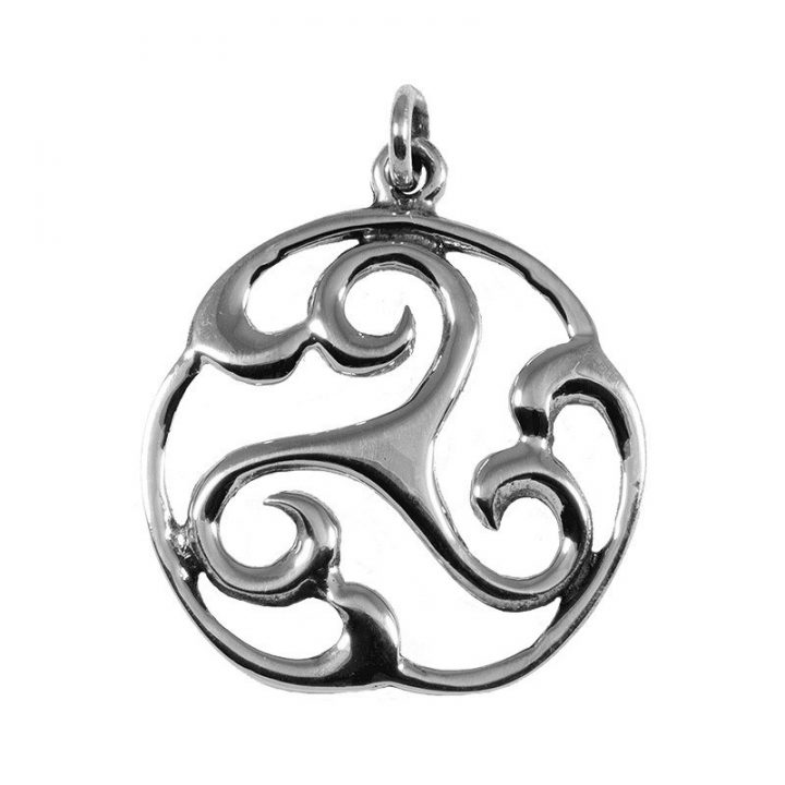 Keltische Triskel Zonnenwiel zilver