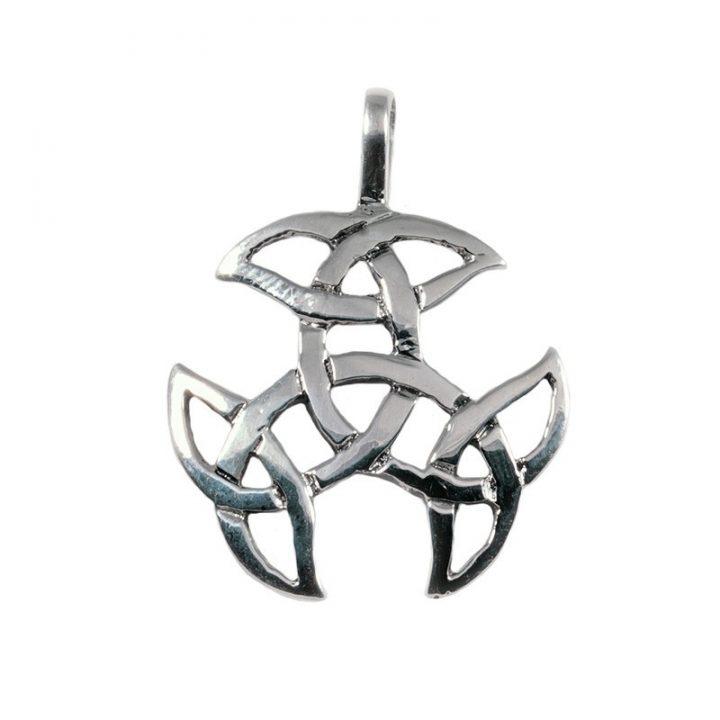 Keltischer Open Triad Anhanger Silber