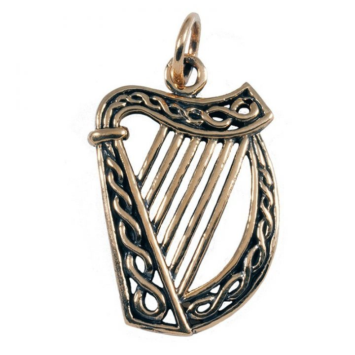 Ierse Harp Hanger Brons Groot