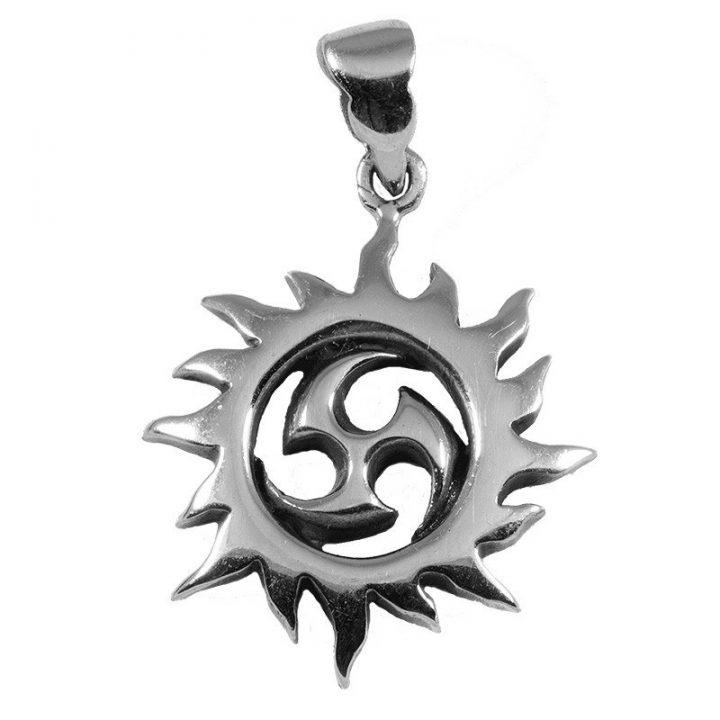 Keltische Sonnen mit Triskel Silber