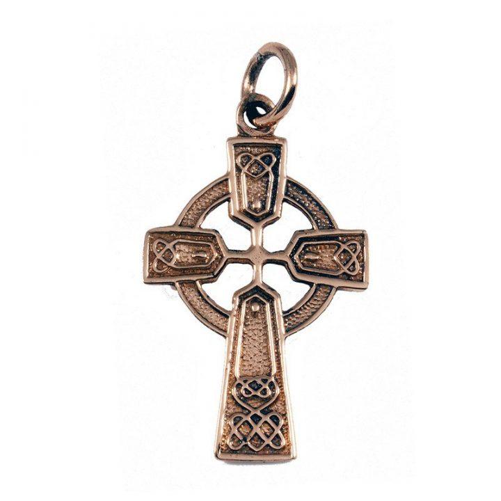 Keltischer Kreuzanhanger Bronze