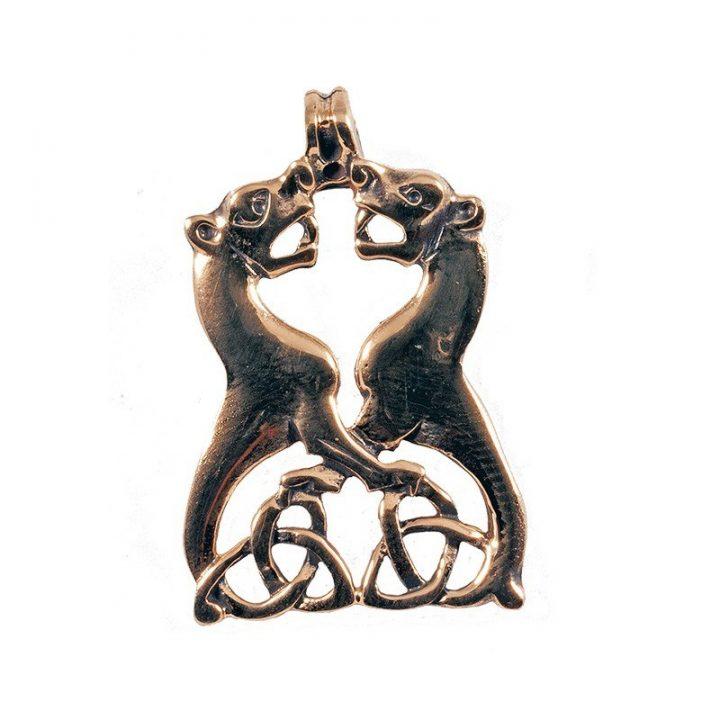 Keltische Honden Hanger Brons
