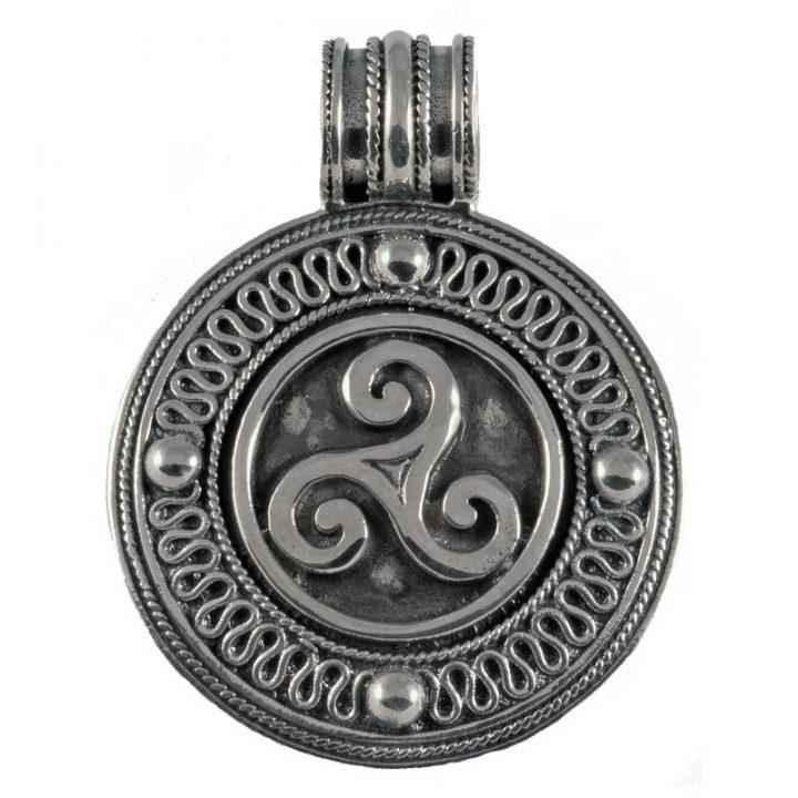 Keltische Triskel Anhanger Silber
