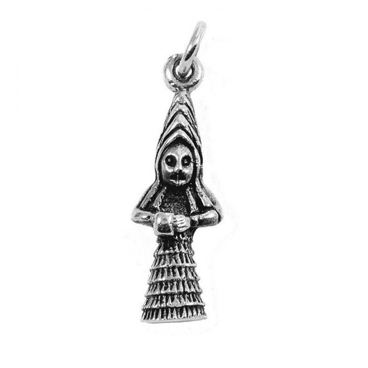 Keltische Priesteres Hanger Zilver