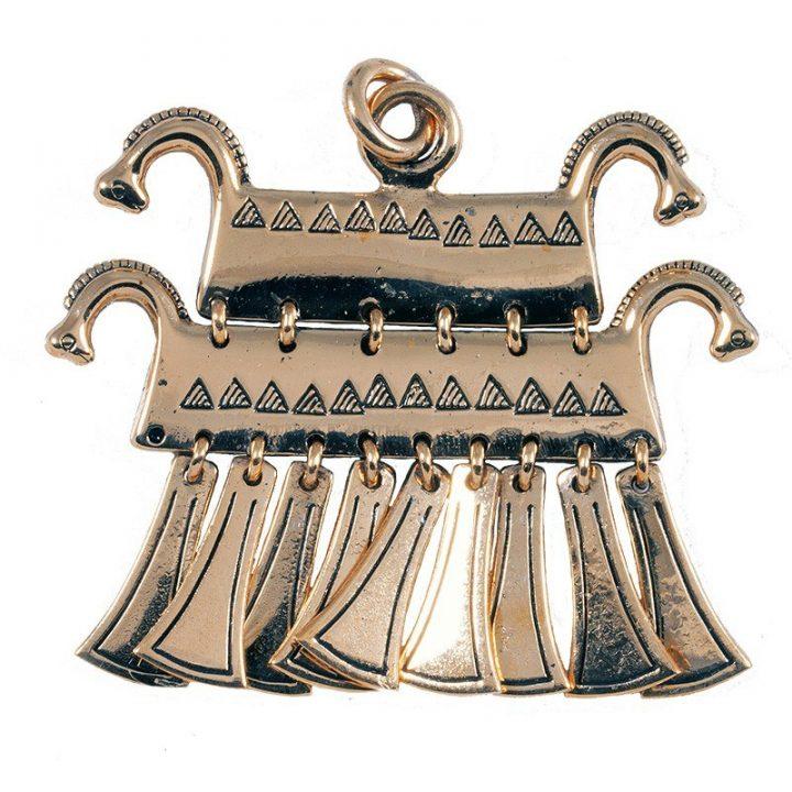 Keltische Paardenkop Hanger Brons