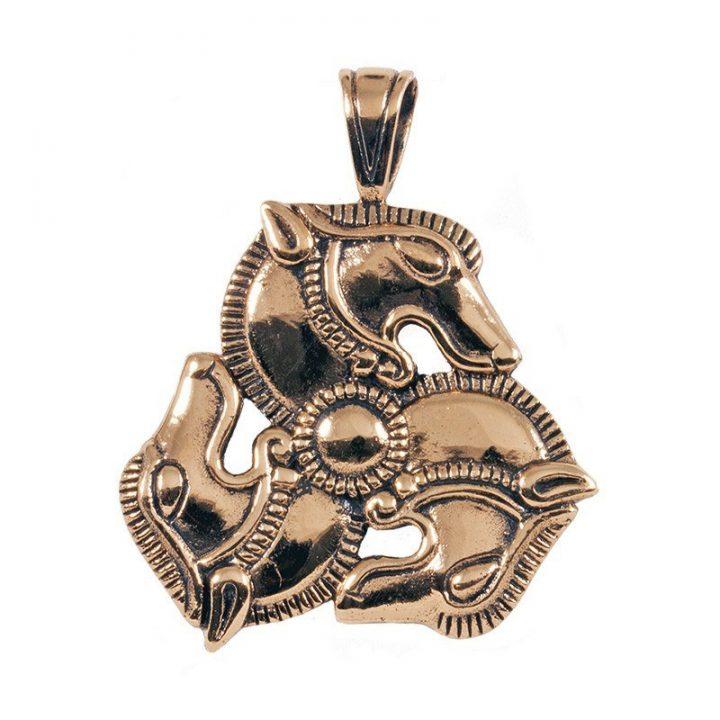 Replic Pferde Anhanger Bronze