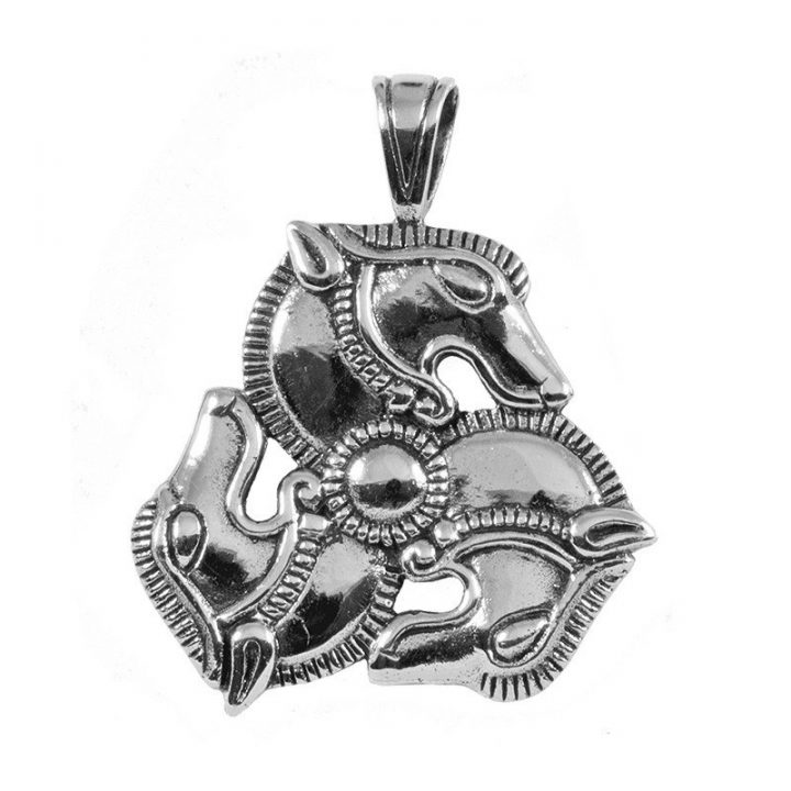 Replic Pferde Anhanger Silber
