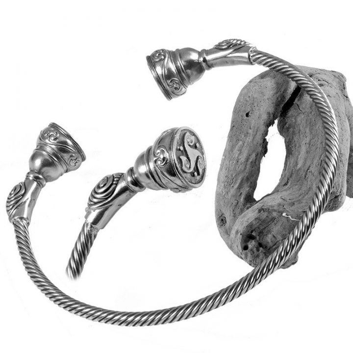 Keltische Halsband Zilver