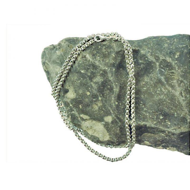 Wikinger Erbskette 925er Silber 50 cm lang