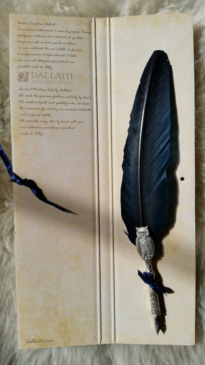 Veer met Uilen Pen Blauw
