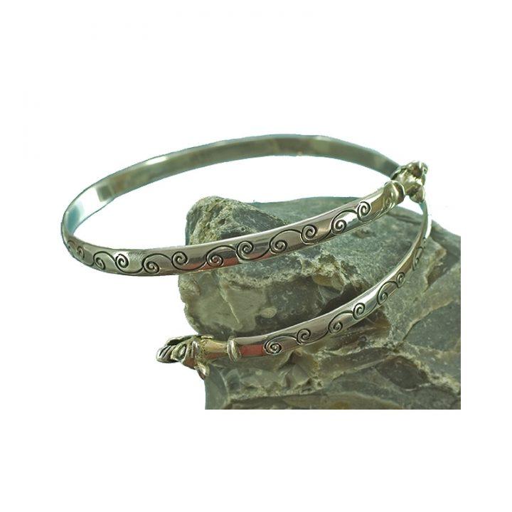Viking Bovenarm armband Zilver