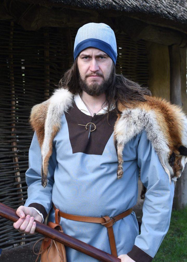 Viking Birka Muts Visgraad Blauw maat XL