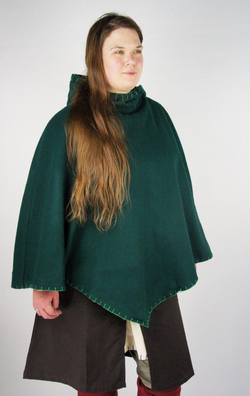 Viking Kaproen met grote kraag Groen