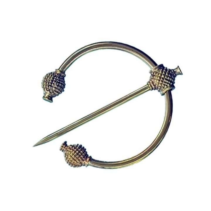 Viking Distel Fibula Brons