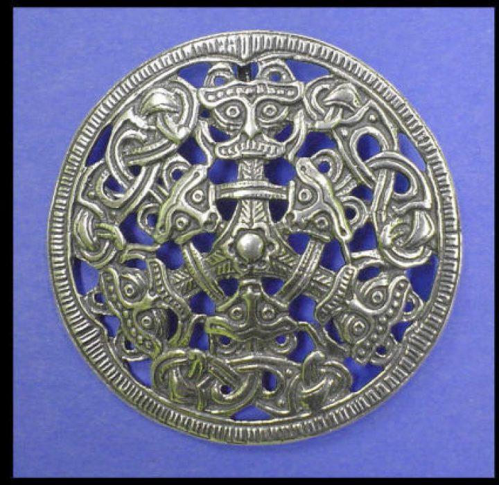 Viking Fibula Borre Noorwegen 10e eeuws zilver