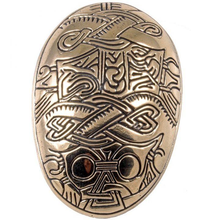 Wikinger Oval Fibel in Bronze