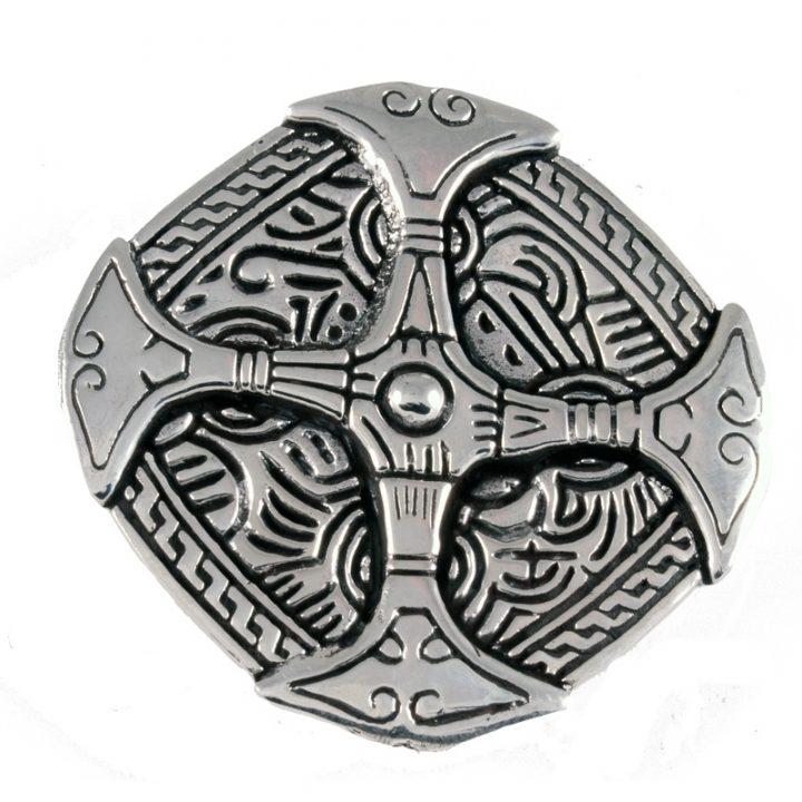Viking Kleding Fibula Zilver