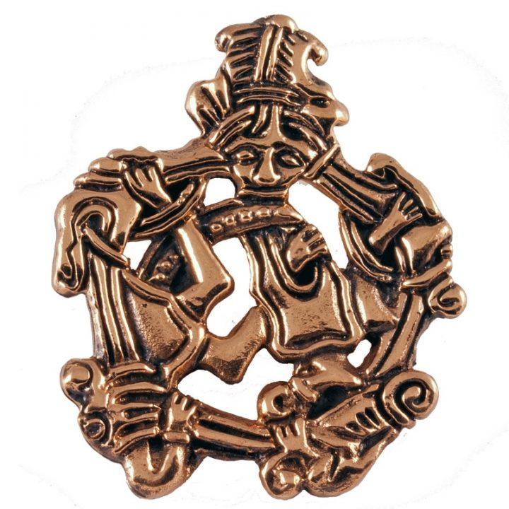Wikinger Tiermotif Anhanger Bronze