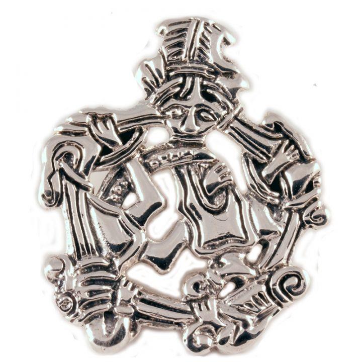Viking Diermotief Hanger Zilver