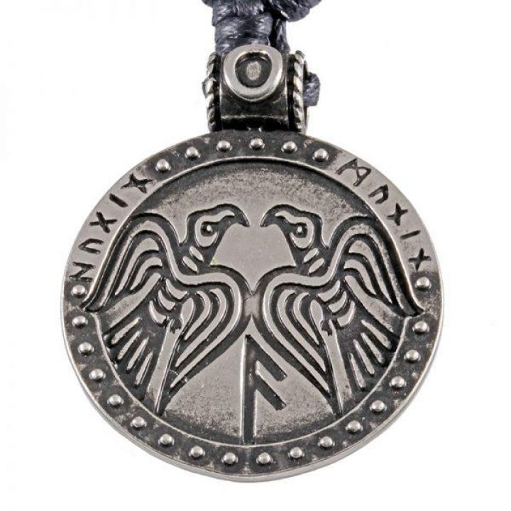 Viking Hugin en Munun Raven hanger in Tin