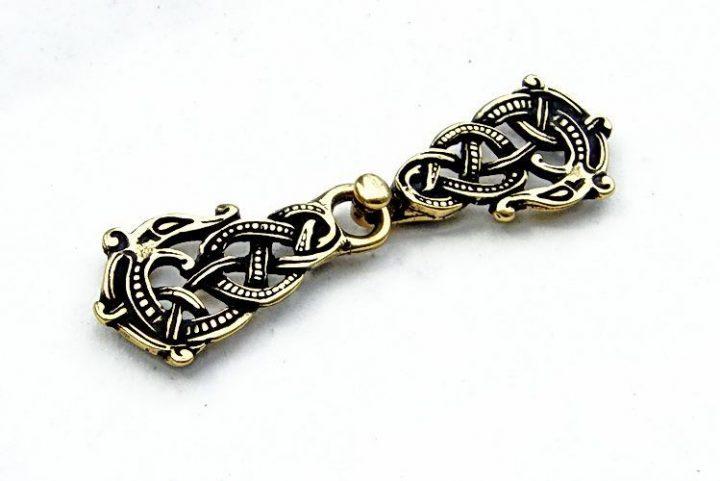 Viking Kaftan Sluiting Brons Look
