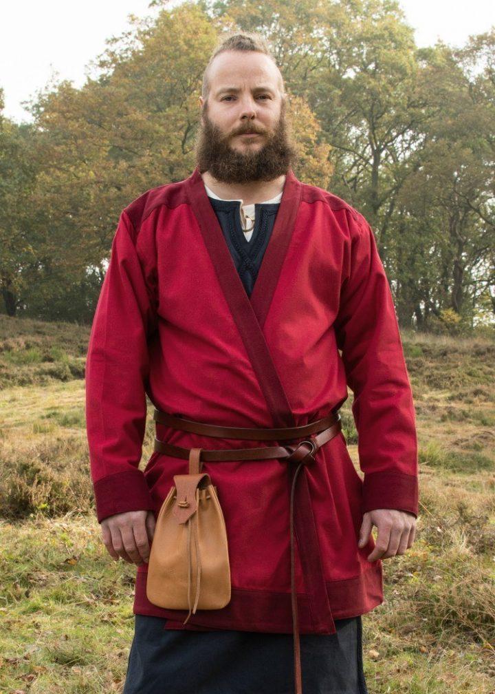 Viking Kaftan in Rood maat