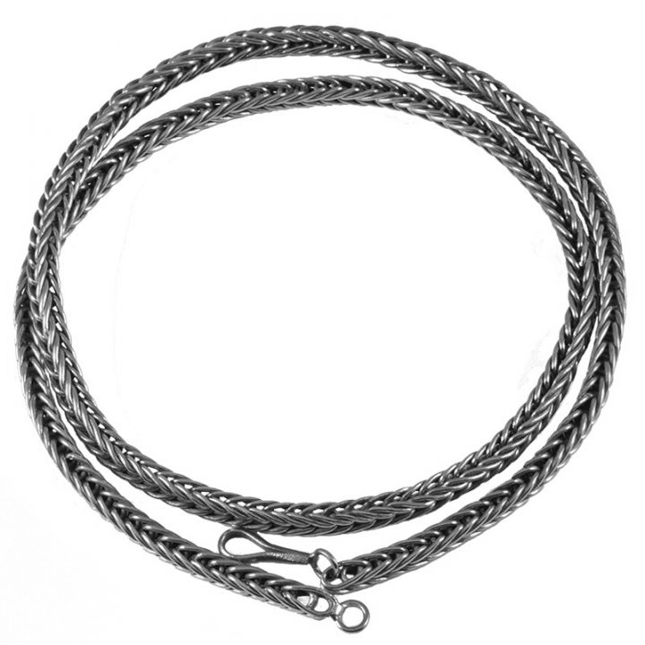Wikinger Kette 65 cm Silber