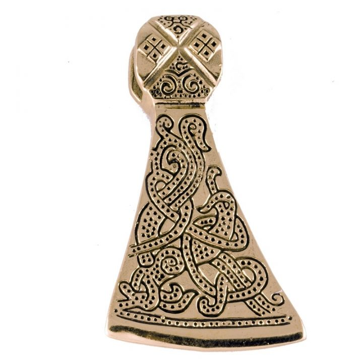 Wikinger Mammenaxt Anhanger in Bronze