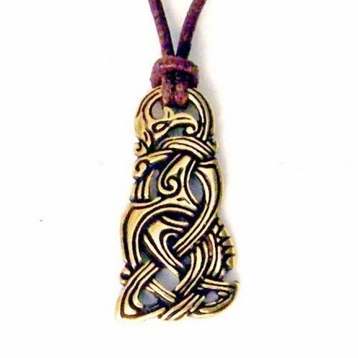 Viking Midgard Slang 800-1100 in Messingkleur met koord
