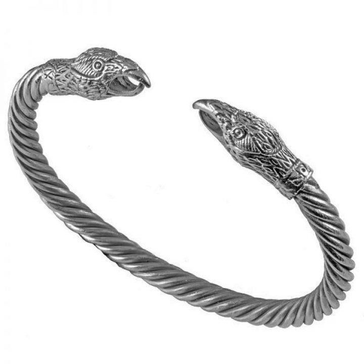 Viking Odins Raven Armband in Zilver