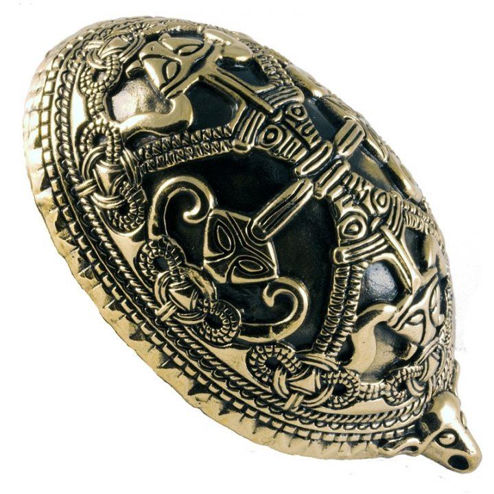 Wikinger Oval Fibel Bronze
