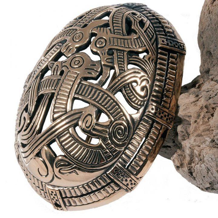 Wikinger Schildkrötenfibel-Ovalfibel Bronze