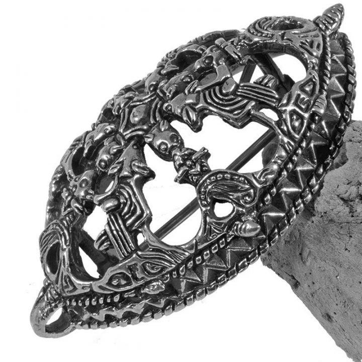 Viking Schildpad Ovaal Fibula Zilver