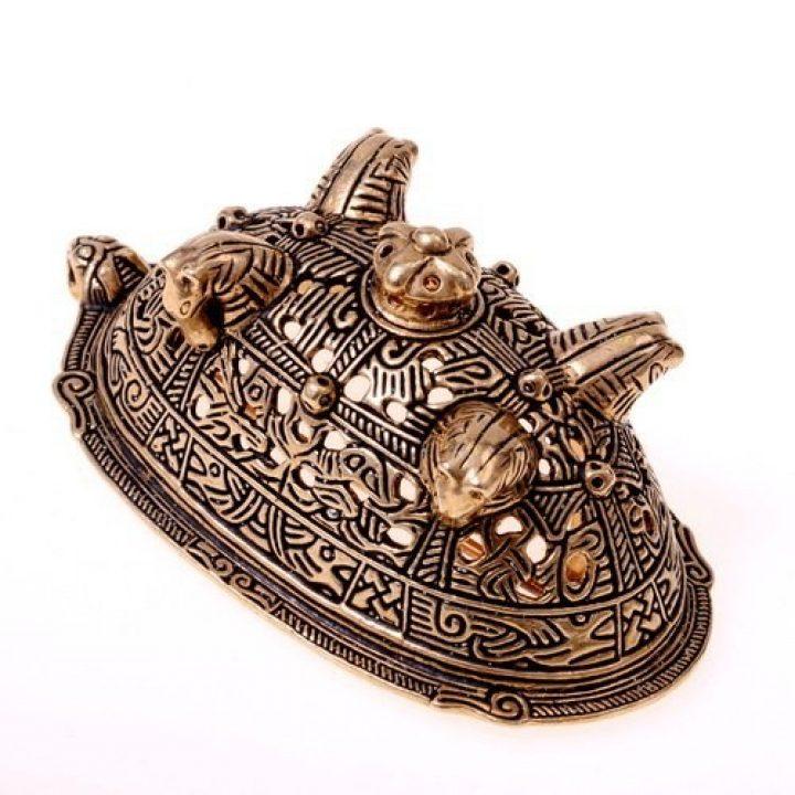 Viking Paardenkop Fibula uit Birka Brons