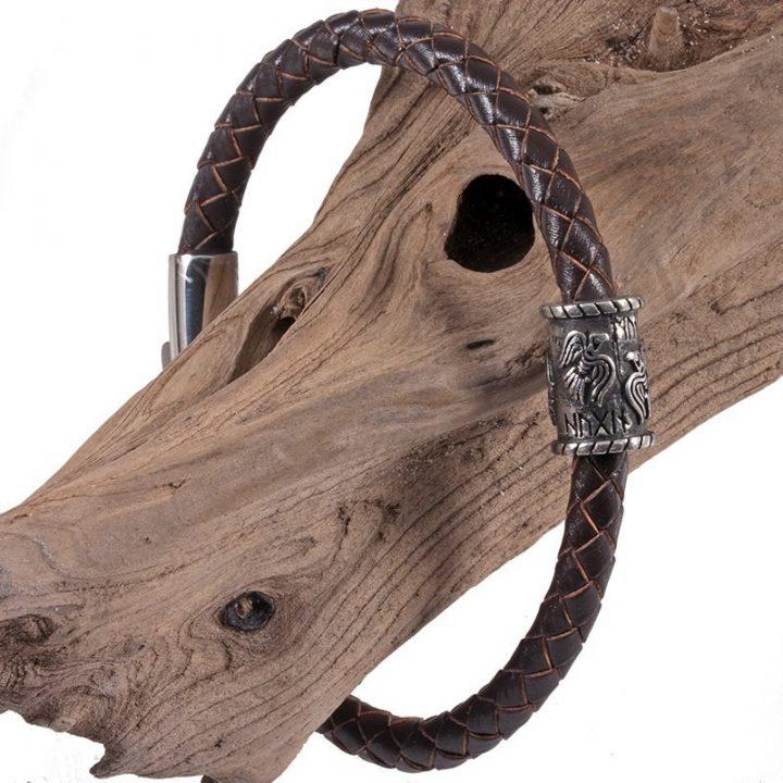 Viking Raven Armband in Tin Klein