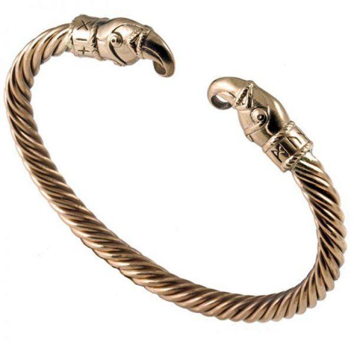 Viking Odins Raven Armband in Brons
