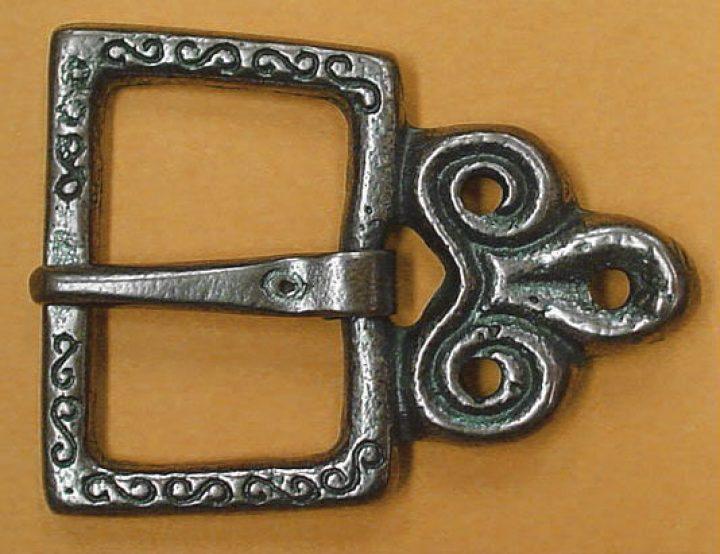Wikinger Riemen Schalle - Zitawska Ton, Geat Moravia Bronze