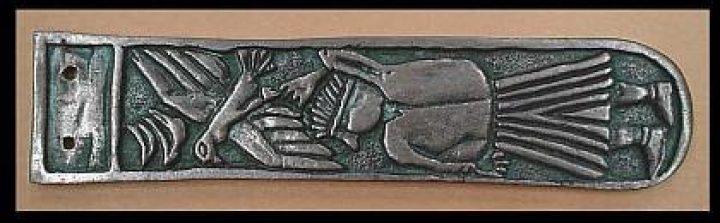Viking Riemtong Brons, Man with falcon, Moravsky 10e eeuws