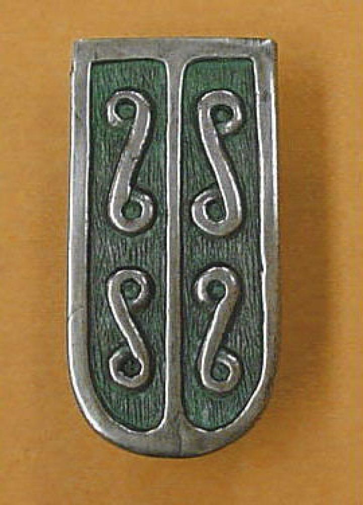Viking Riemtong Eindstuk brons, Grod Zmijowska, Polen, 9e eeuws