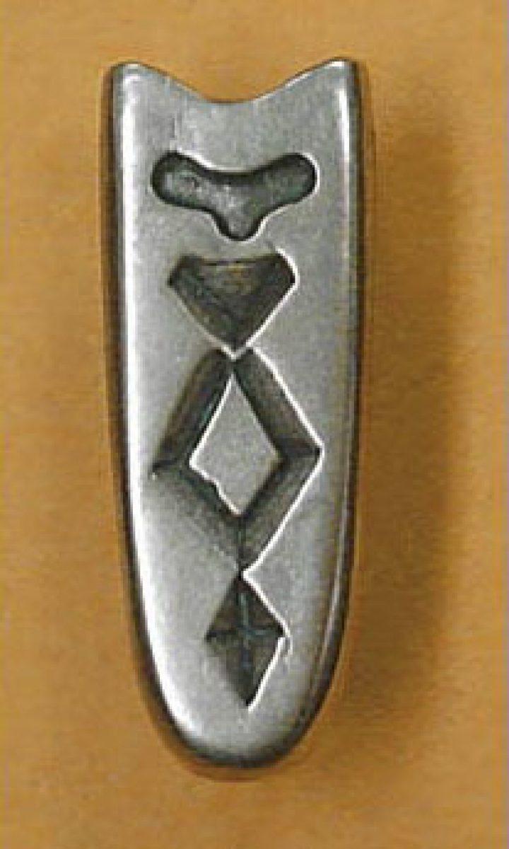 Viking Riemtong Eindstuk brons, Czarna Mogila, Rusland 10e eeuws