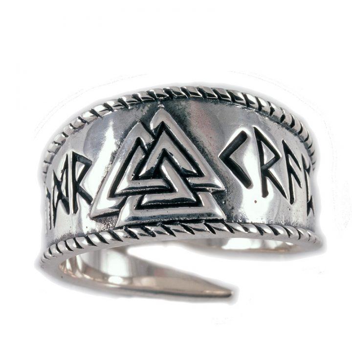 Viking Valknut Ring Zilver Klein
